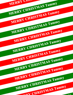personal xmas wrapping paper with word document properties