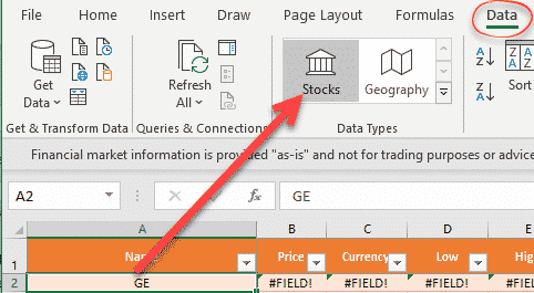 Put the latest Stock and Fund prices in Excel workbooks
