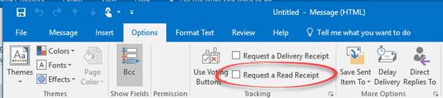 how to add a read receipt in outlook mac