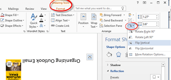 Reverse Mirror or Flip Text in Word many different ways – Degrees in Microsoft Word