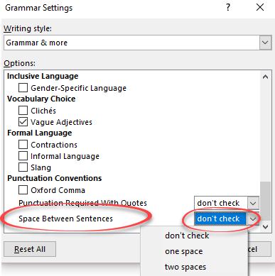 SMART Exchange - USA - Punctuation spacing