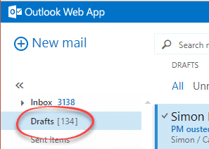 Share Outlook email drafts between computers - Office Watch