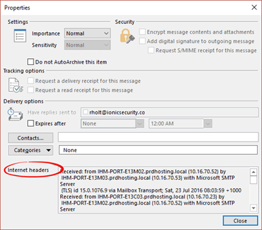 Show an entire 'raw' email message in Outlook - Office Watch