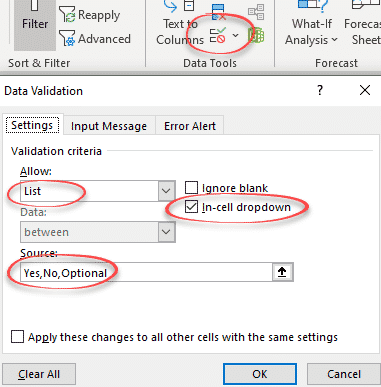 Simple Yes, No drop down list in Excel - Office Watch