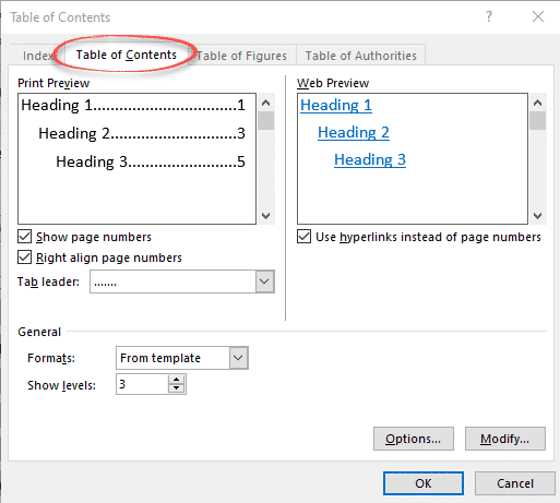Table of Contents basics in Word - Office Watch