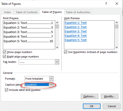 changing equation font in word 2010