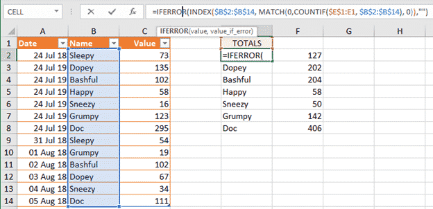 Three ways to make a unique list in Excel, the hard way and