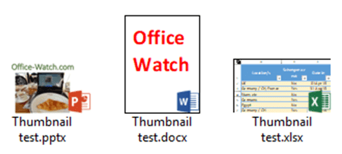 Thumbnails for Office documents with nerdy tricks - Office Watch