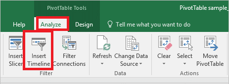 Timelines for date filtering Excel PivotTables - Office Watch