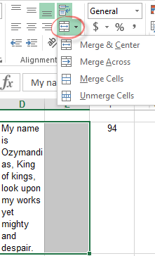 Typing text in Excel - Office Watch
