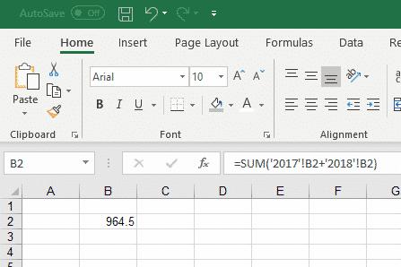 Using 3D Formulas to range across Excel worksheets - Office ...