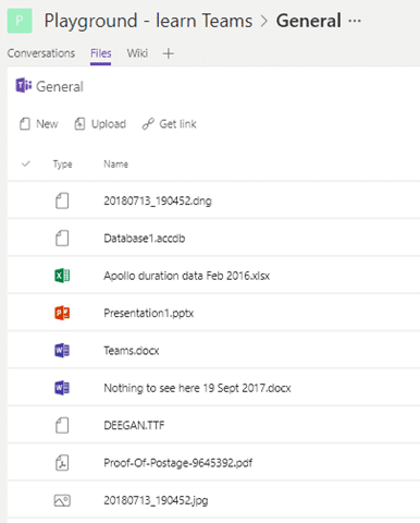 What's inside Microsoft Teams
