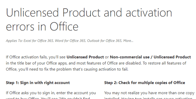 Why is Microsoft Office product activation so difficult? - Office Watch
