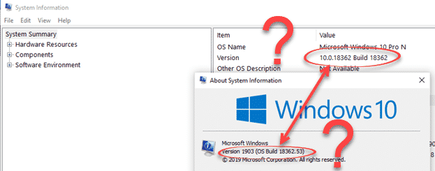 Windows name, version and builds make no sense - Office Watch