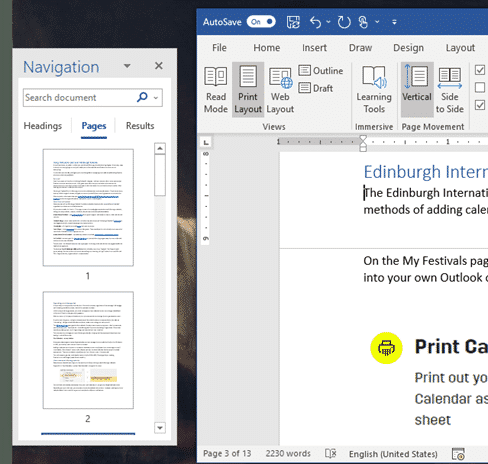 Word Navigation Pane tricks and hidden options - Office Watch
