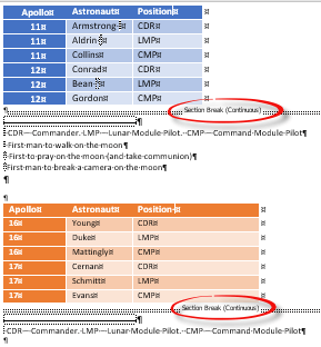 Word table with Footnotes - Office Watch